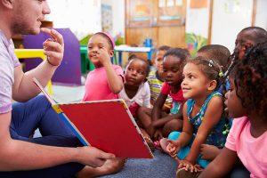 Child care volunteers